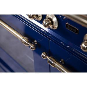 48 Inch Blue Dual Fuel Liquid Propane Freestanding Range
