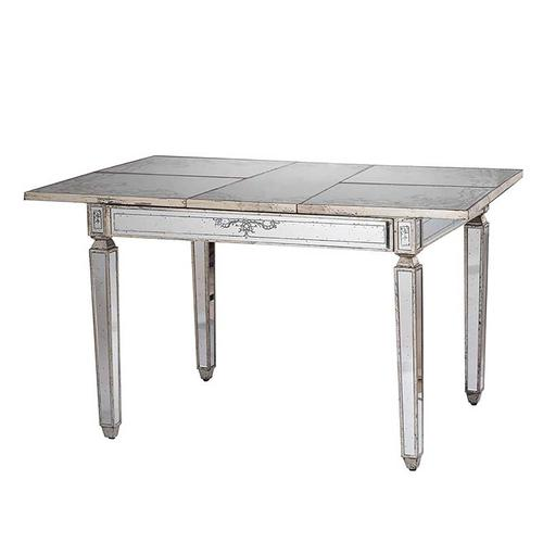 A & B Home - Mirrored Table