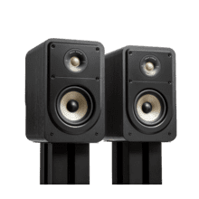 View Product - Compact High-Resolution Bookshelf LoudSpeakers for Hi-Fi LISTENING/Home Theater in Black