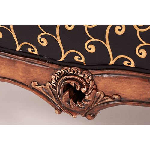 Wood Trim Settee - Opt1