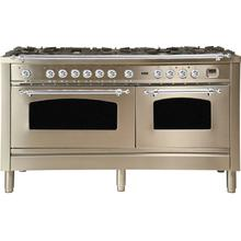 60 Inch Stainless Steel Dual Fuel Natural Gas Freestanding Range
