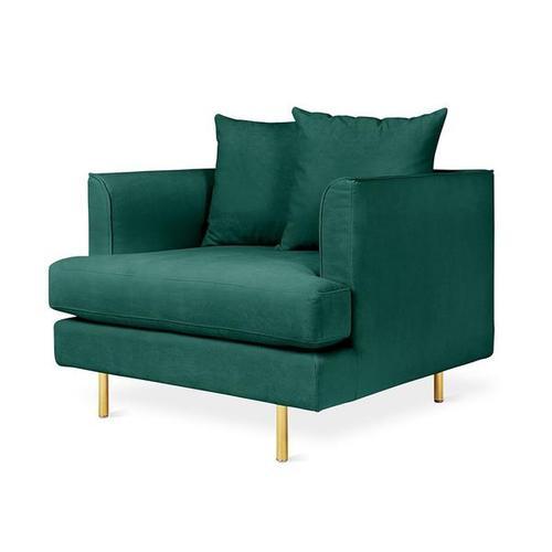 Margot Chair Velvet Spruce / Brass