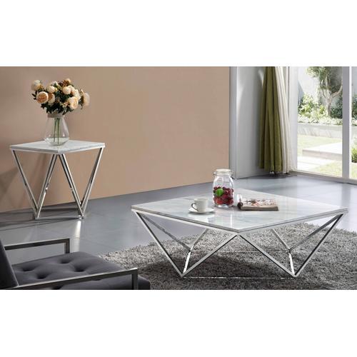 """Skyler Chrome Coffee table - 36"""" W x 36"""" D x 14.5"""" H"""