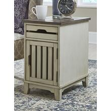 Chairside Cabinet Two tone Smoke Gray textured cedar tops and Stone body finish      (8818-22,52906)