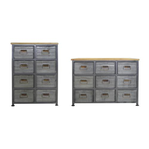 Grant 6-drawer Accent Cabinet, Aged Metal Ac410-09