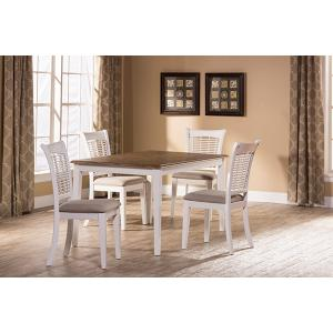 Bayberry 5-Piece Rectangle Dining Set - White