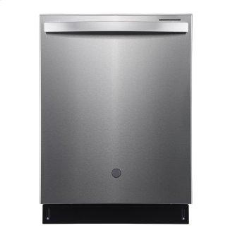"""GE Profile 24"""" Built-In Top Control Dishwasher with Stainless Steel Tall Tub Stainless Steel - PBT865SSPFS"""