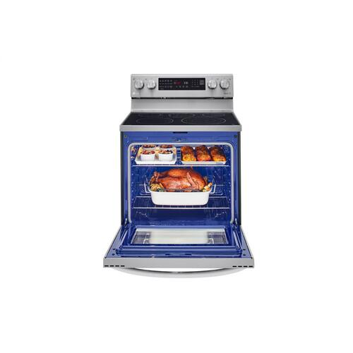 6.3 cu ft. Smart Wi-Fi Enabled True Convection InstaView® Electric Range with Air Fry