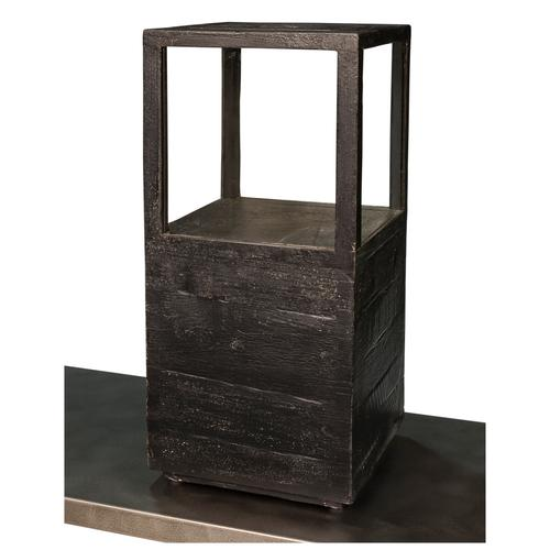 Large Candlestand, Weathered Black