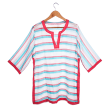 See Details - Striped Tunic Coverup