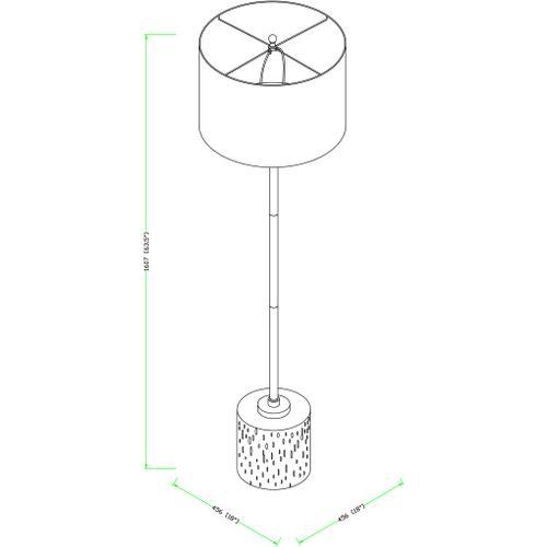 "Surya - Ledger LED-001 62""H x 18""W x 18""D"