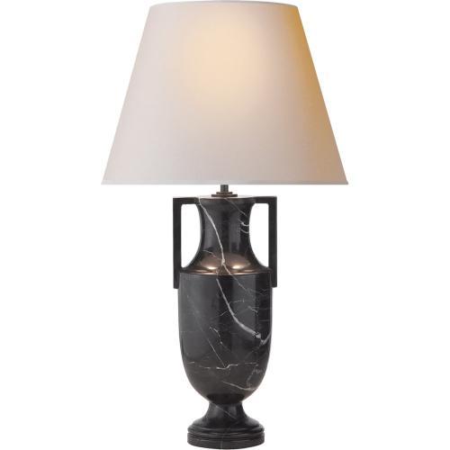 Visual Comfort AH3046BM-NP Alexa Hampton Burt 27 inch 60 watt Black Marble Decorative Table Lamp Portable Light