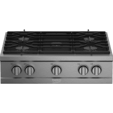 """See Details - 30"""" Stainless Steel Pro-Style Built-in Gas Range Top"""