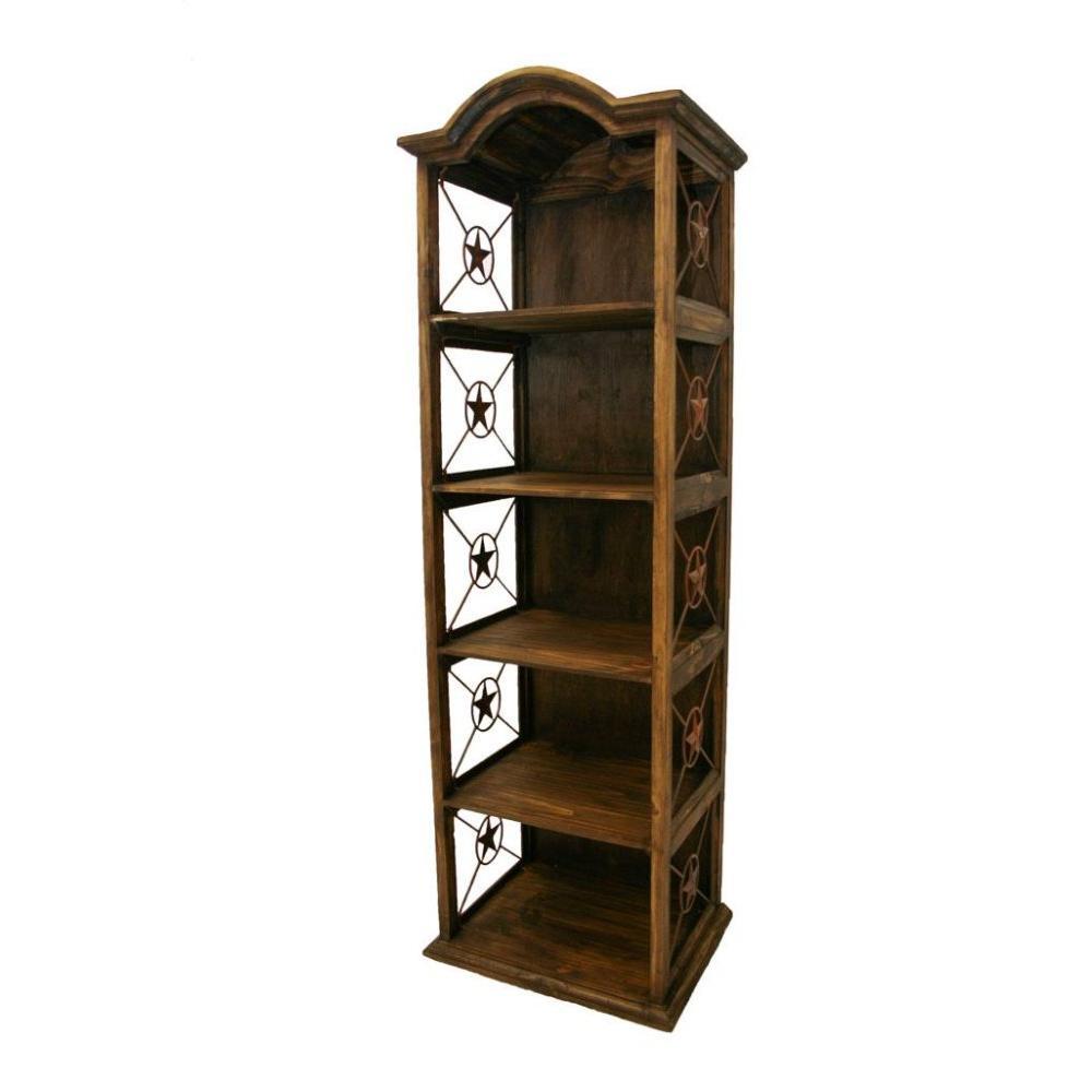 "See Details - 24"" Bookcase W/Iron Stars Medio Finish"