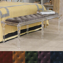 Marilyn Acrylic 6 Leg Bench-Brown Sugar