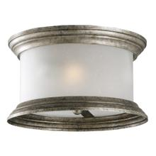 Glen Dale Rustic 3-Light Indoor/Outdoor Ceiling Flush Mount Light, Weathered Pewter #508366