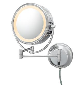 Chrome Double-Sided LED Lighted Mirror Product Image