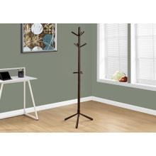 "COAT RACK - 69""H / ESPRESSO WOOD CONTEMPORARY STYLE"