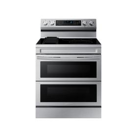 6.3 cu. ft. Smart Freestanding Electric Range with Flex Duo™, No-Preheat Air Fry & Griddle in Stainless Steel