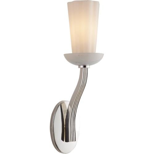 Visual Comfort BBL2032PN-WG Barbara Barry All Aglow 1 Light 4 inch Polished Nickel Decorative Wall Light in White Glass