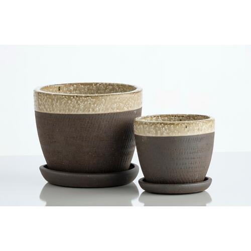 Wild Rim Petits Pot w/ attchd saucer, Set of 2 (Min 4