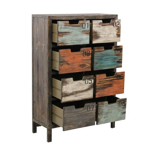 Accentrics Home - Tall 8 Drawer Apothecary Chest in Rustic Multicolor