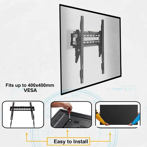 """FLASH MOUNT Tilt TV Wall Mount with Built-In Level - Magnetic Quick Release Pendants - Fits most TV's 32"""" - 55"""" (Weight Capacity 120LB)"""