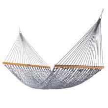 See Details - Deluxe Original DuraCord Rope Hammock - Navy Oatmeal Heirloom Tweed