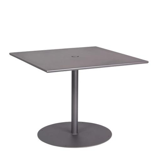 """Woodard Furniture - Solid Iron 36"""" Square Umbrella Table with Pedestal Base"""