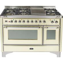 48 Inch White Dual Fuel Freestanding Range