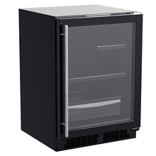See Details - 24-In Built-In Refrigerator With 3-In-1 Convertible Shelf And Maxstore Bin with Door Style - Black Frame Glass