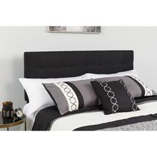 See Details - Bedford Tufted Upholstered Queen Size Headboard in Black Fabric
