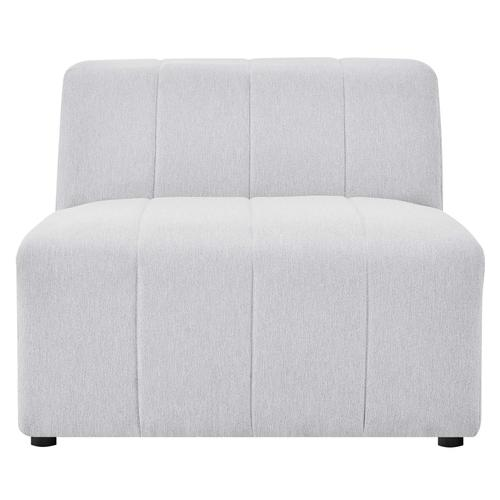 Bartlett Upholstered Fabric Armless Chair in Ivory
