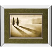 """Cyprus Eclipse I"" By Brent Collins Mirror Framed Print Wall Art"