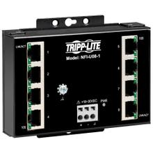 See Details - 8-Port Unmanaged Industrial Ethernet Switch - 10/100 Mbps, Ruggedized, -40° to 75°C, DIN/Wall Mount