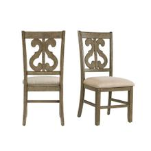 Product Image - Stone Wooden Swirl Back Side Chair Set