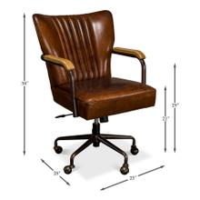 Parker Office Chair, Vintage Cigar Lthr