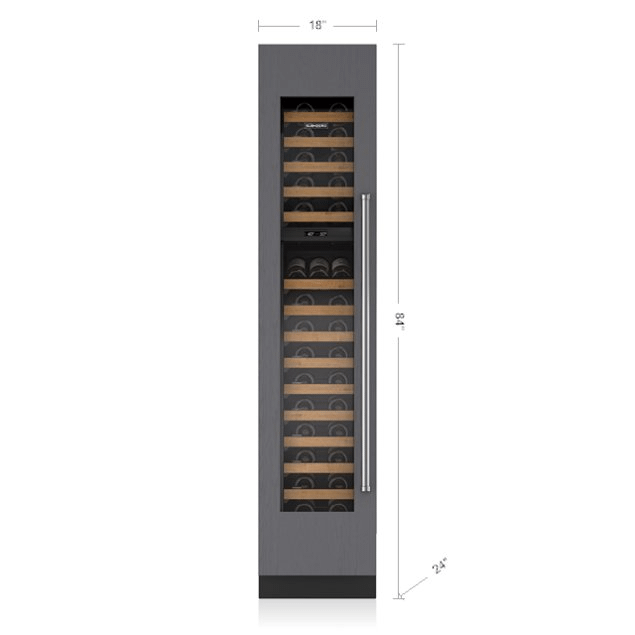 "Subzero 18"" Designer Wine Storage - Panel Ready"