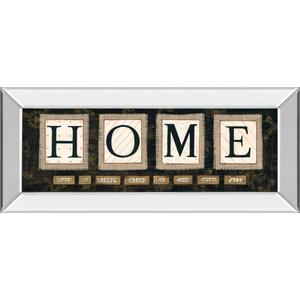 """Home"" By Anne Lapoint Mirrored Framed Print Wall Art"