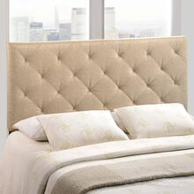 Theodore Full Upholstered Fabric Headboard in Beige