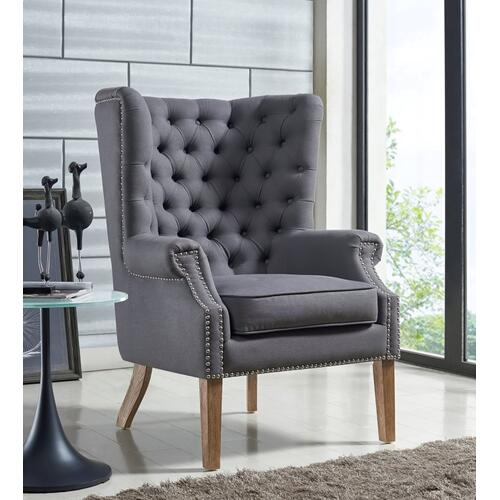 Tov Furniture - Abe Grey Linen Chair
