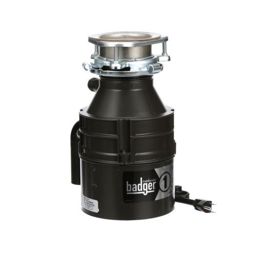 Insinkerator - Badger 1 Garbage Disposal with Cord, 1/3 HP