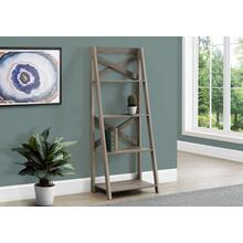 "BOOKCASE - 60""H / DARK TAUPE LADDER WITH 4 SHELVES"