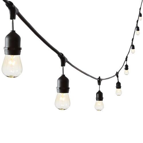 8lt Incan Indoor/outdoor String Light, Bk Finish