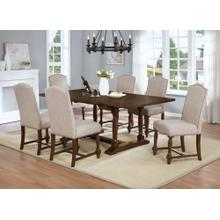 7829 7PC-UPH Trestle Dining Room SET