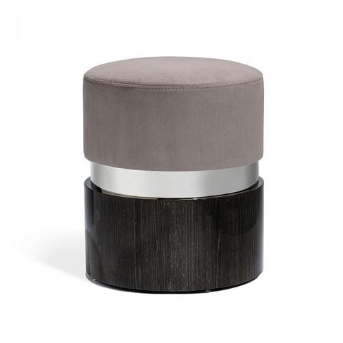 Kelsey Stool - Nickel/ Grey