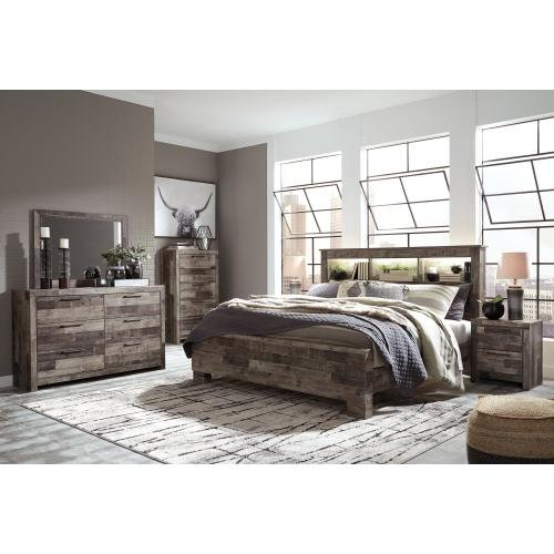 Derekson King Panel Bookcase Bed