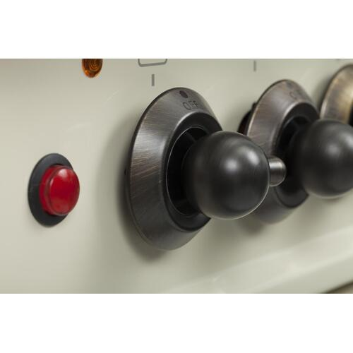 Ilve - Nostalgie 24 Inch Gas Natural Gas Freestanding Range in Antique White with Bronze Trim