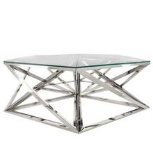 Metal Hexagon Coffee Table, Silver
