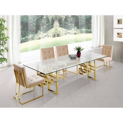 """Pierre Gold Dining Table - 78"""" W x 39"""" D x 30"""" H"""